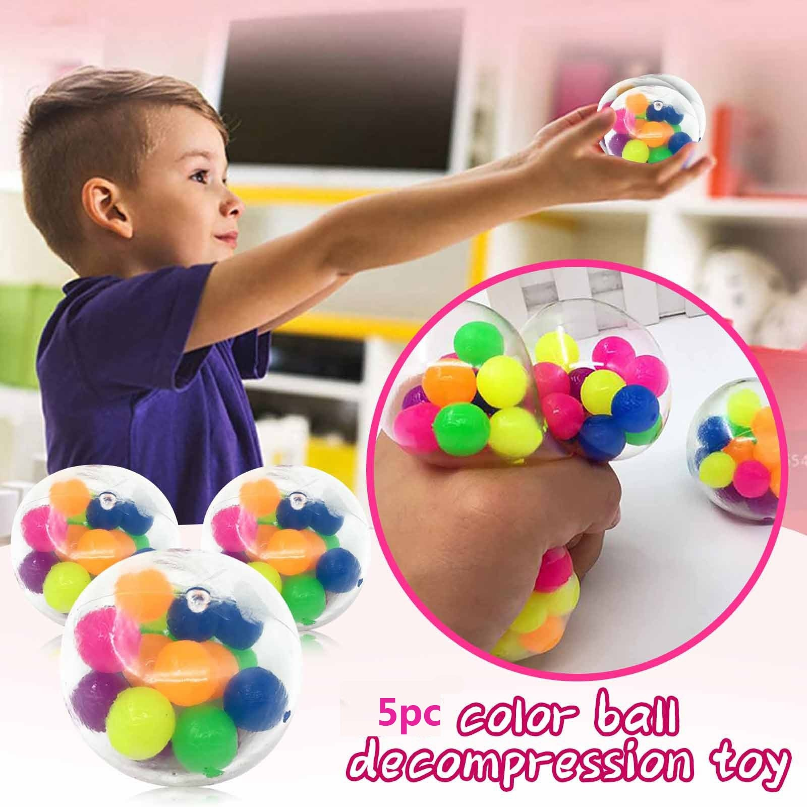 5pc Figet Toys Color Sensory Toy Office Stress Ball Pressure Ball Stress Reliever Toy Figet Toys Adult Fidget Toys Set enlarge