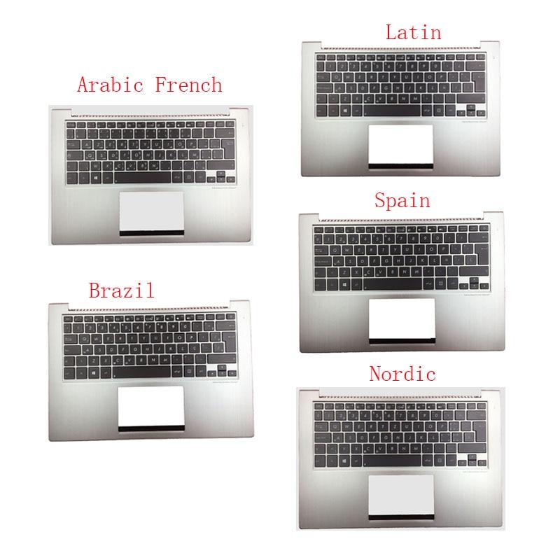 Клавиатура для ноутбука ASUS UX32 UX32A UX32E UX32V BX32 UX32VD, с испанской/Латинской/бразильской/скандинавской/английской клавиатурой, с подсветкой, чехол...