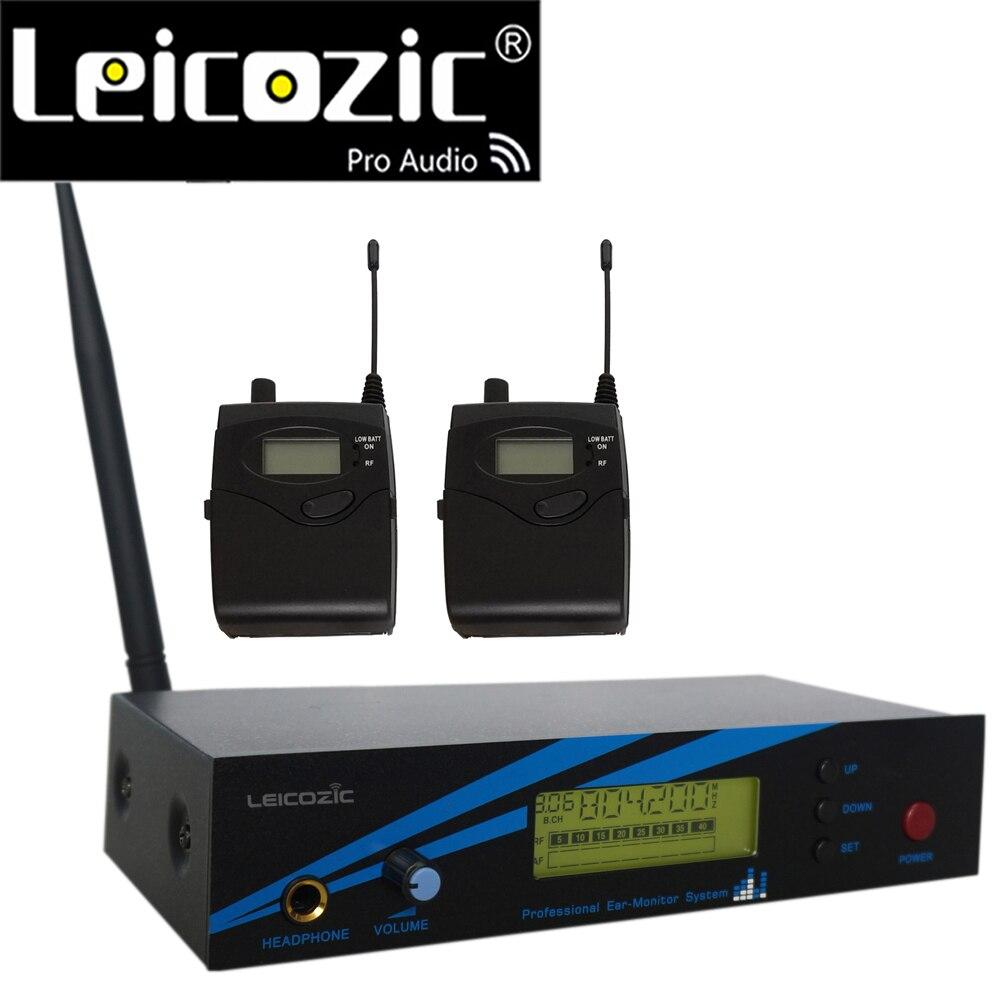 Leicozic L-500 IEM نظام UHF في الأذن نظام مراقبة على المسرح رصد نظام تسجيل استوديو 300iemg2 G2 2 استقبال + الارسال