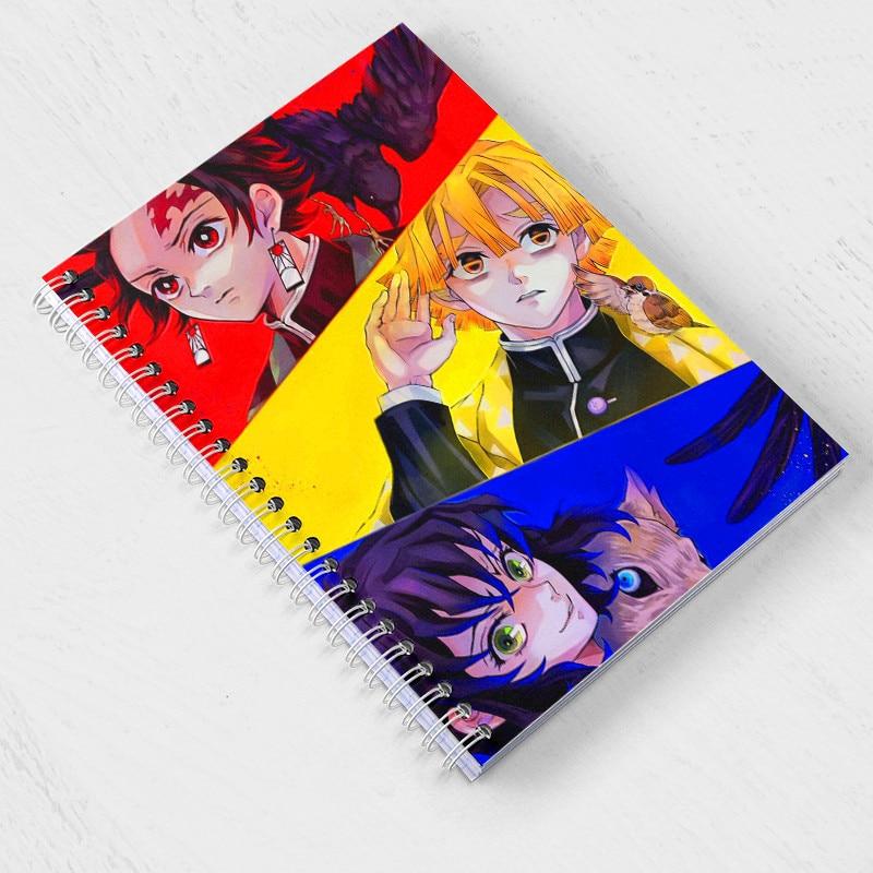 Cuaderno Demon Slayer Anime Kimetsu no Yaiba Note Book Kamado Tanjirou Agenda de papel Agenda planificador de bocetos regalo para niños