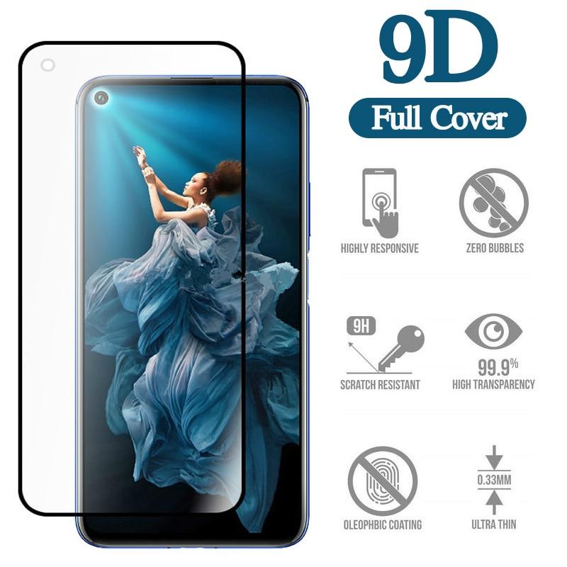 Vidrio Protector 9D para Honor 20 20pro 10 8X 8C 8S 8A pro i Protector de pantalla de vidrio templado en vidrio de seguridad para Huawei nova 4e
