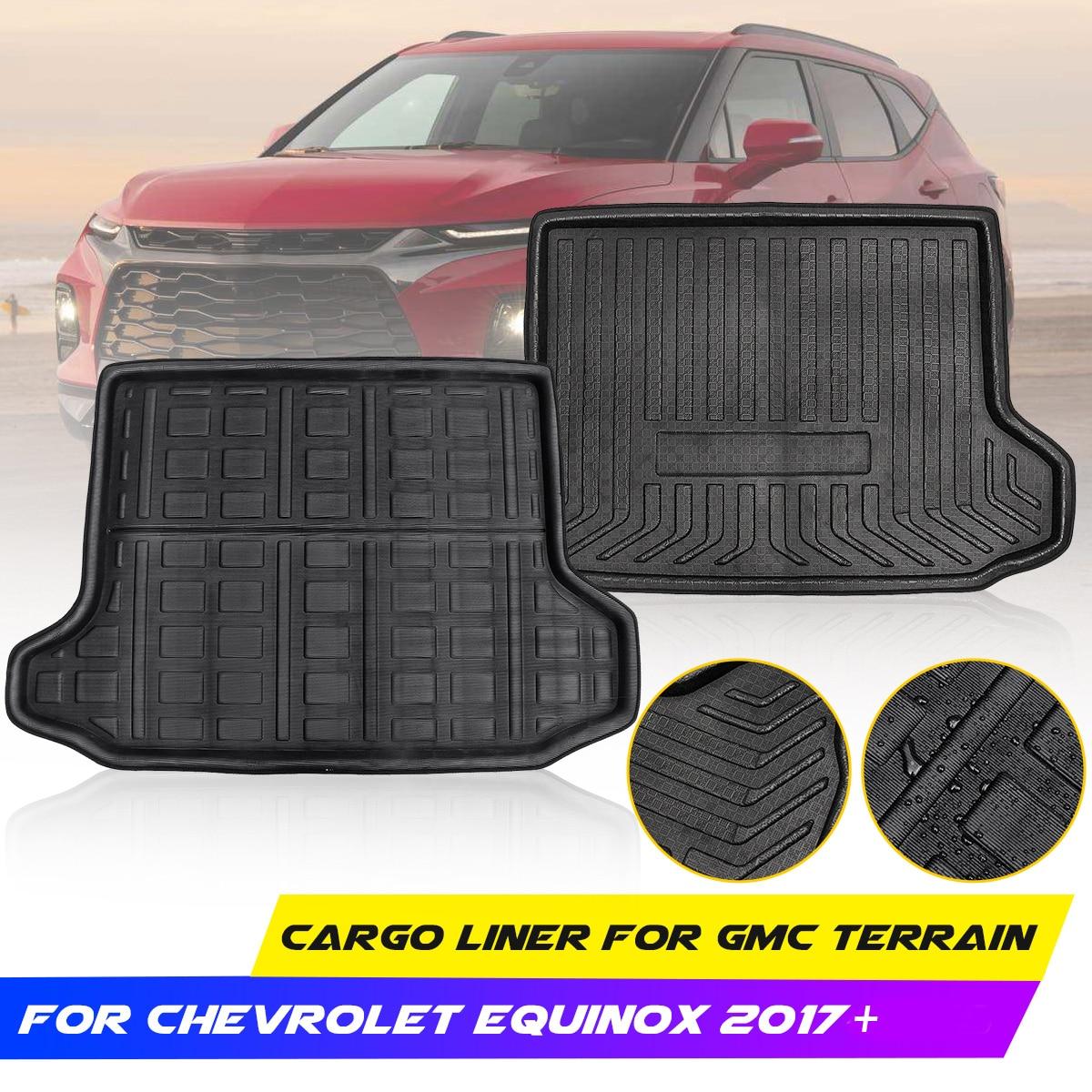 Forro de carga, bandeja trasera, impermeable, alfombra para maletero, alfombra para suelo, bota a medida para terreno GMC para Chevrolet Equinox 2017 2018 2019 +