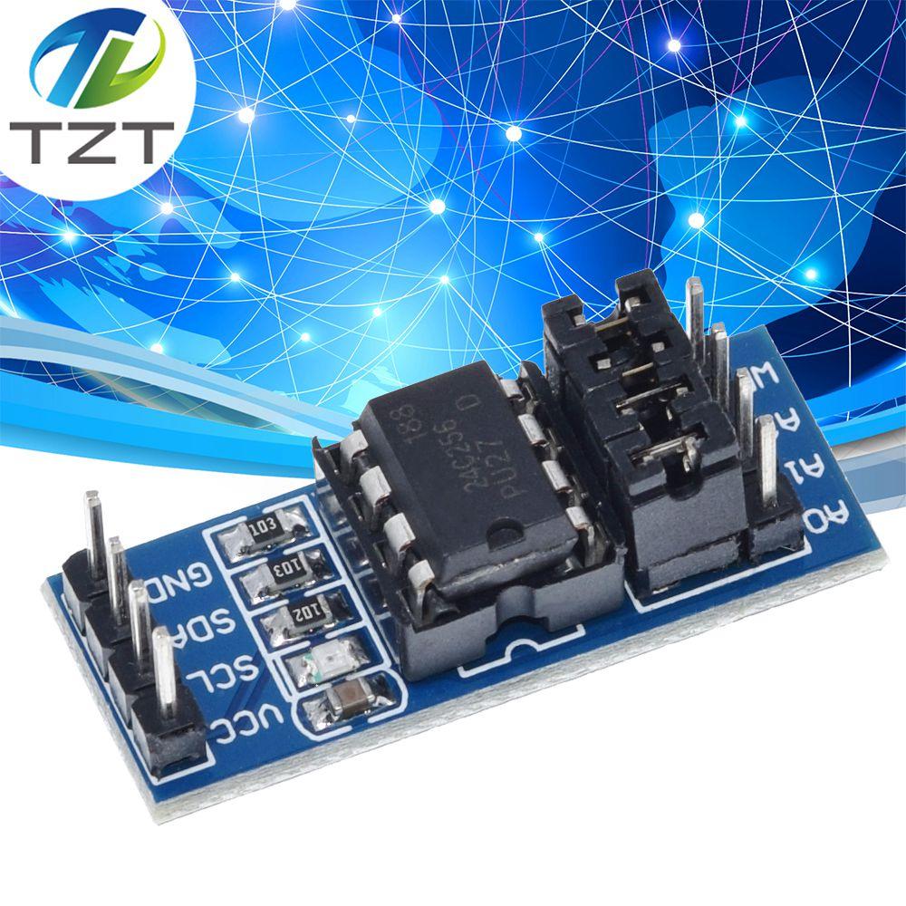 TZT AT24C256 I2C IIC ממשק EEPROM זיכרון מודול 8P שבב כוח אספקת מחוון להרים הנגד ישיר הגדרת מגשר