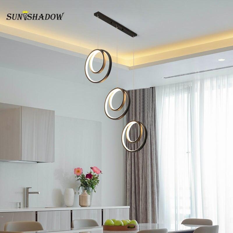 Homa светодиодный подвесной светильник 110 В 220 В, современный комнатный подвесной светильник для столовой, кухни, люстры, гостиной, спальни, по...