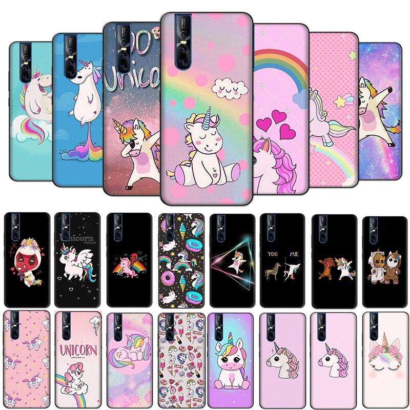 Desxz Popular Rainbow Unicorn Soft Case for VIVO Y95 Y93 Y91 Y75 Y79 Y85 Y89 for VIVO V5S V9 V11 V7 V15 Pro Plus Cover