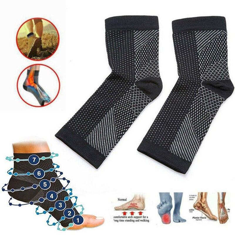 1 par de tobillera deportiva Protector de compresión de tobillo soporte almohadilla para pie estabilizador Protector de tobillo para cuidado de enfermería deportiva