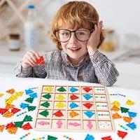 kids puzzle sensory board toys color direction arrow matching game montessori education toys logic training children felt toy