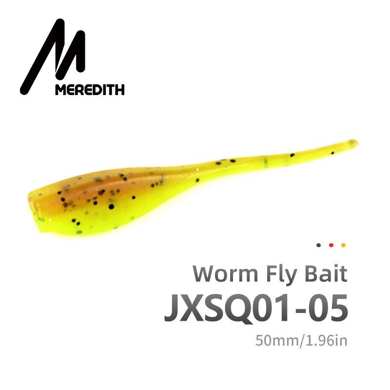 Рыболовная приманка MEREDITH, 50 шт., 5 см, 1 г, приманка для ловли щуки, мягкая пластиковая наживка, хищник, щука, JXSQ01-05