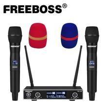 Freeboss FB-U35 Dual Weg UHF Fest Frequenz Karaoke Party Kirche Drahtlose Mikrofon System mit 2 Handheld Mikrofon