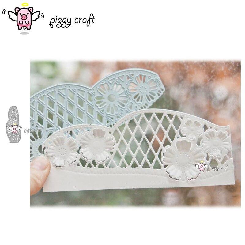 Piggy Craft metal corte troqueles molde flor encaje tejido tarjeta manualidades de papel de álbum de recortes cuchillo molde de cuchilla perforadora de plantillas troqueles