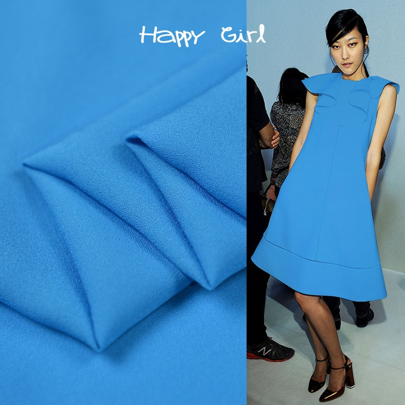 Tela de seda azul cielo pura jianhong crepe tela de seda natural 20momme 138cm de ancho, SJHC067