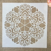 1Pcs 30*30cm Big Flower Round Mandala DIY Layering Stencils Painting Scrapbook Coloring Embossing Album Decorative Template