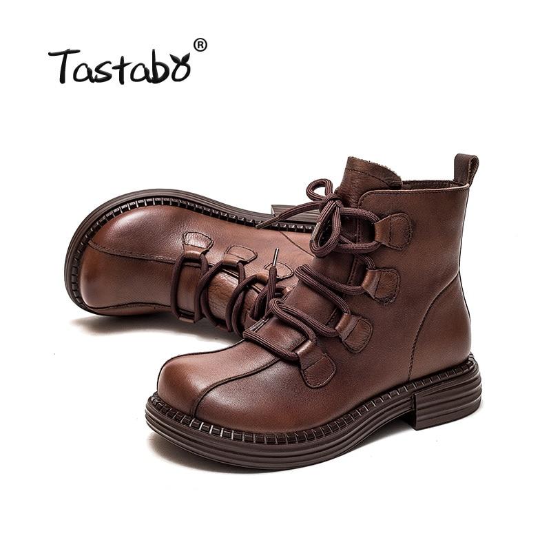 2021 حذاء من الجلد الأسود المرأة حقيقية أحذية من الجلد امرأة عارضة تشيلسي الأحذية الإناث شقة مع البريدي الرجعية بوتاس موهير