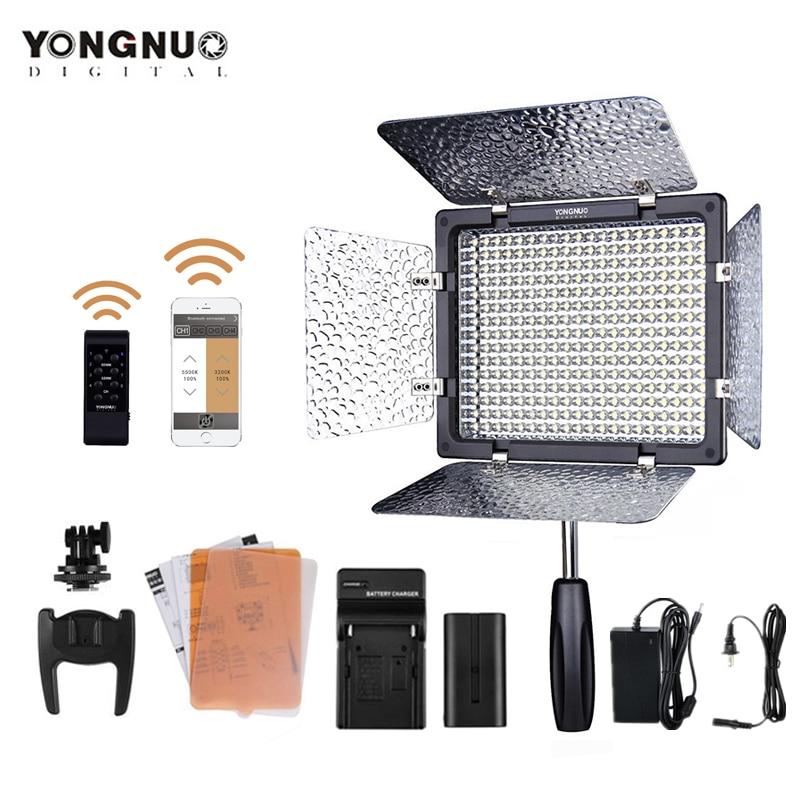 YONGNUO-مصباح LED YN300III 3200-5500K ، مصباح لوحة زفاف LED ، شاحن بطارية ، محول تيار متردد