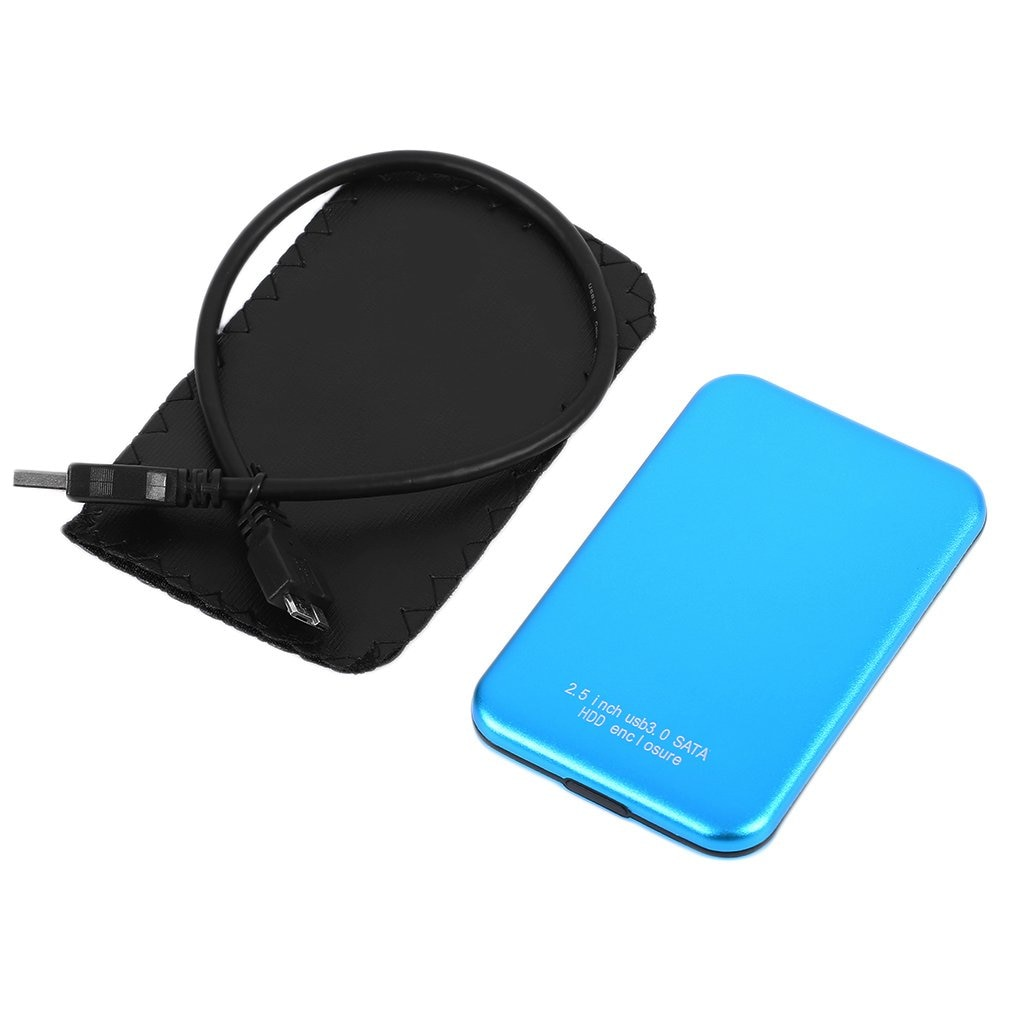 Profesional 2,5 pulgadas USB 3,0 HDD funda disco duro SATA externo USB3.0 almacenamiento HDD recinto ONLENY 5gbps azul 3TB