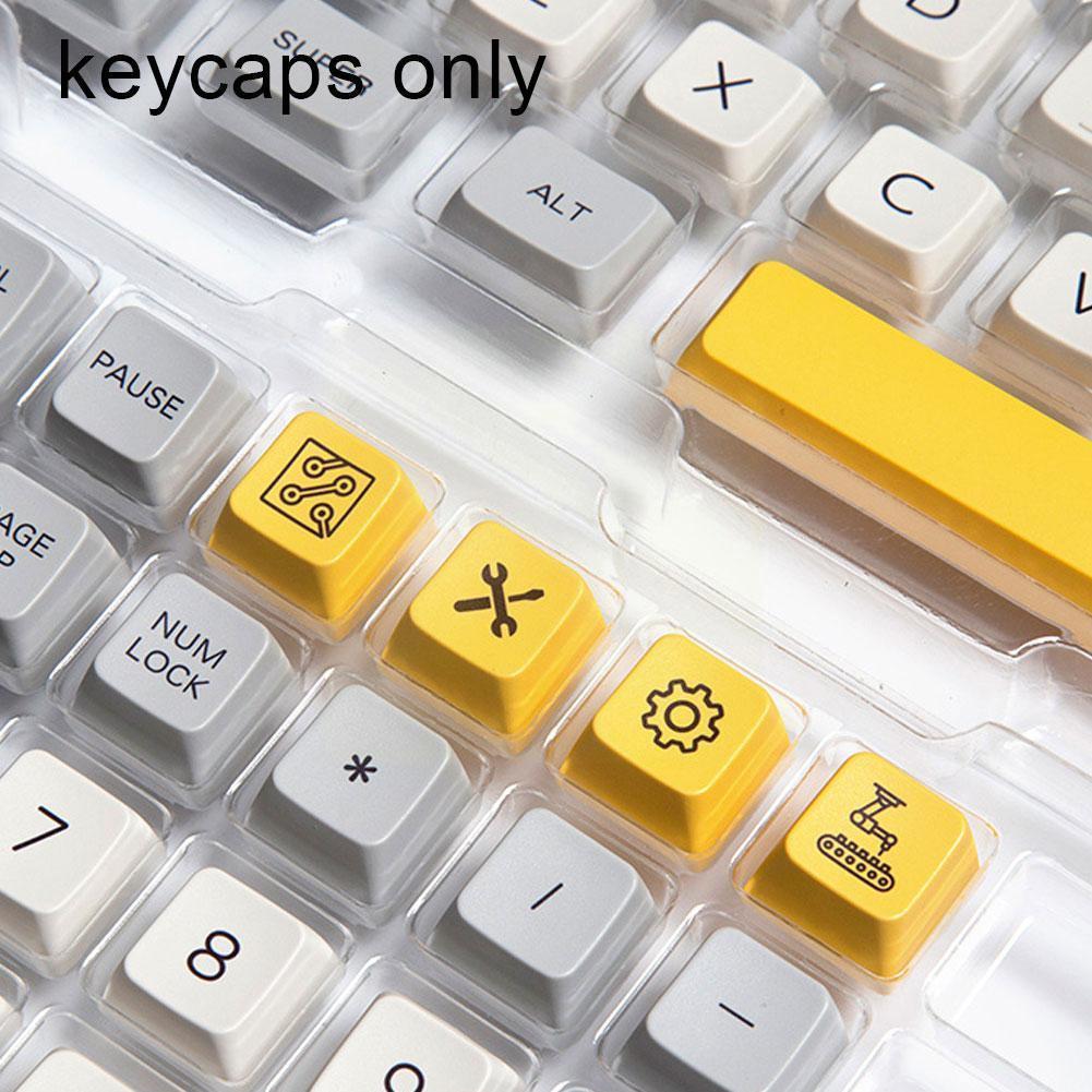 127 مفتاح MDA مجموعة قبعات مفاتيح PBT لصبغ التصعيد الشخصي للوحة مفاتيح الألعاب الميكانيكية Gateron/Otemu/Kailh W5L3