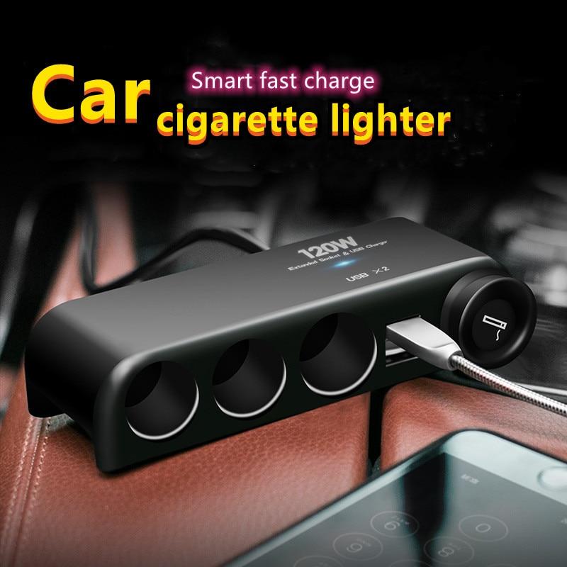 Universal 12V Car Socket Car Cigarette Lighter Multi Socket Cigar Jack Splitter USB Cigar Lighter Ch