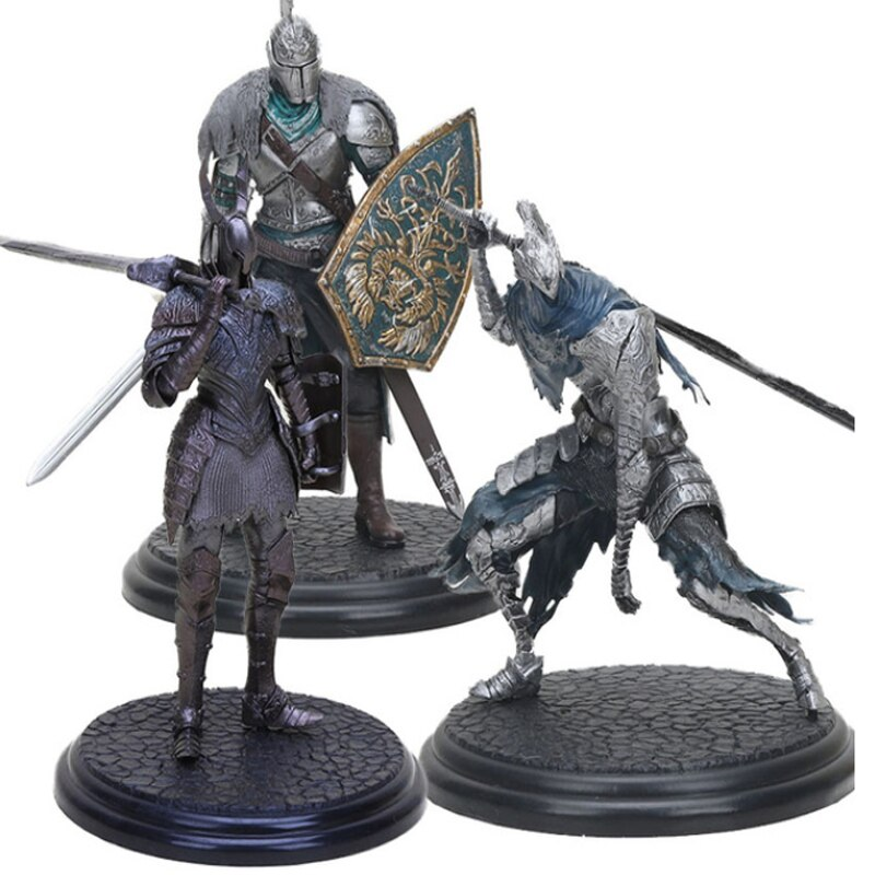 sg new game dark souls 3 solaire of astora sun badge keychains abyss walker artorias sword shield keyring men cosplay jewelry Dark Souls figure toy DXF Faraam Knight Figure Artorias The Abysswalker Dark Souls PVC Action Figures Collectible Model Toy