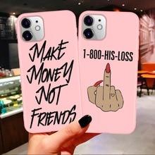Funda de teléfono suave para iPhone 11 Pro Max X XR XS 8 7 6s Plus mate rosa caramelo