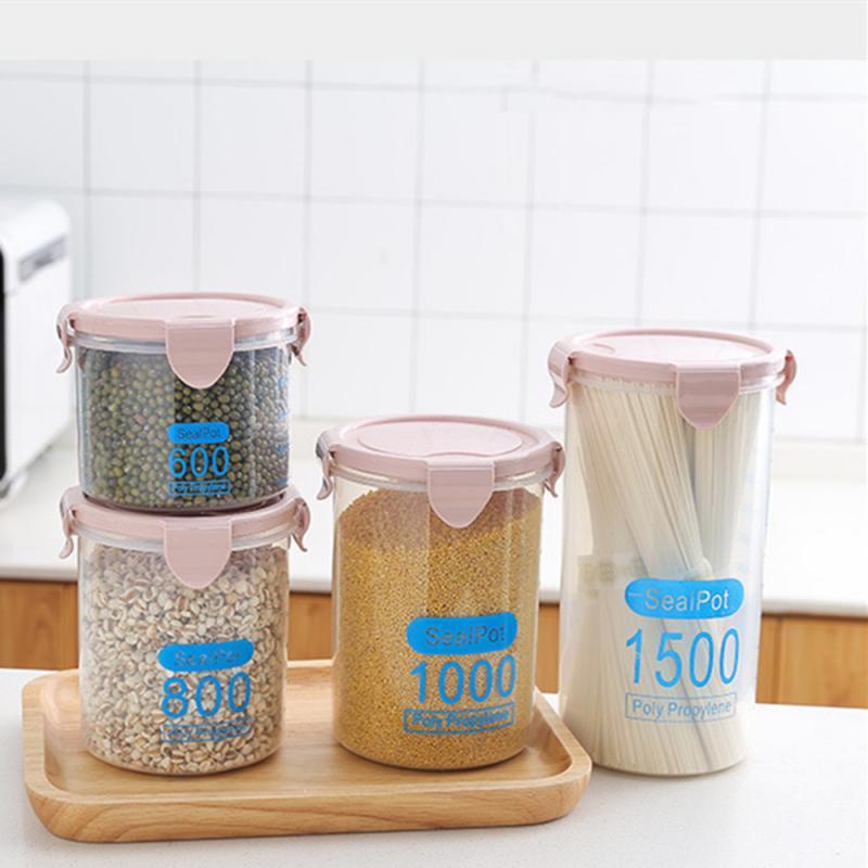 Caixa de plástico para cereal, recipiente para armazenar cereal, arroz, cozinha, armazenamento para cereal
