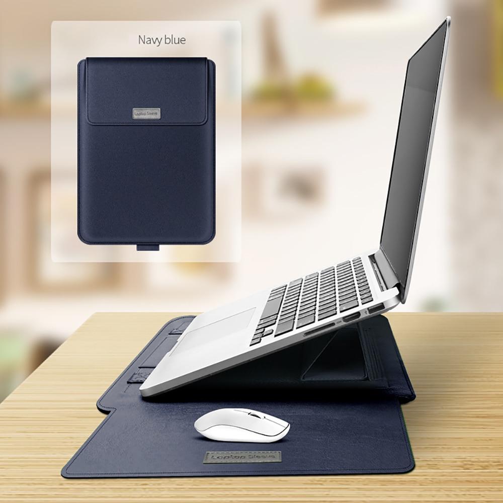 Чехол-подставка из искусственной кожи для Macbook Pro 13 M1, чехол A2289 для Macbook Air 13, чехол Pro 16, 11, 12, 15, мягкий чехол для ноутбука Matebook 14 чехол