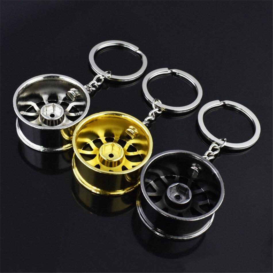Turbo Car Key Chain Keychain Mini Keyring Rainbow Charger Car Drift Motorcycle Colorful Key Chain Auto Car Fashion Accessories