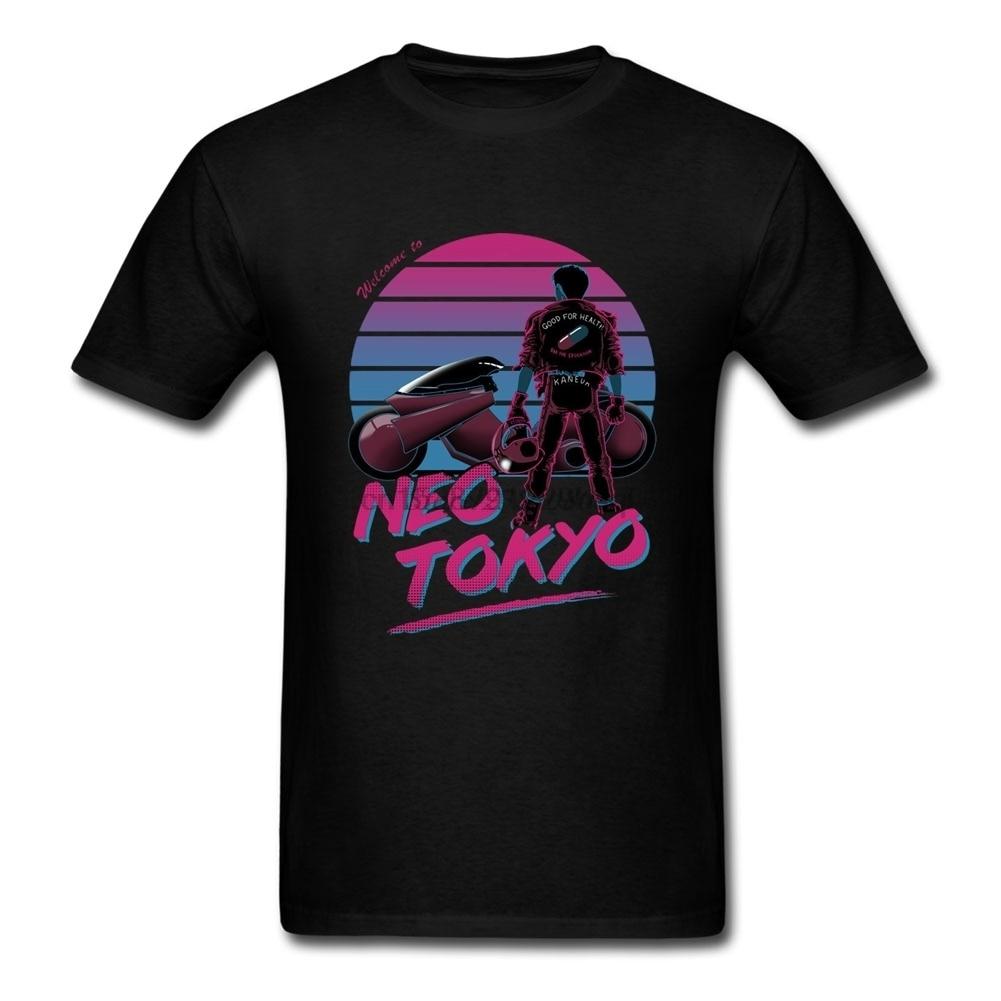 Camisetas de manga corta de encargo de la camiseta de Aira 2019 nueva impresora 3D cuello redondo de algodón Xxxl Neo Tokyo camisetas