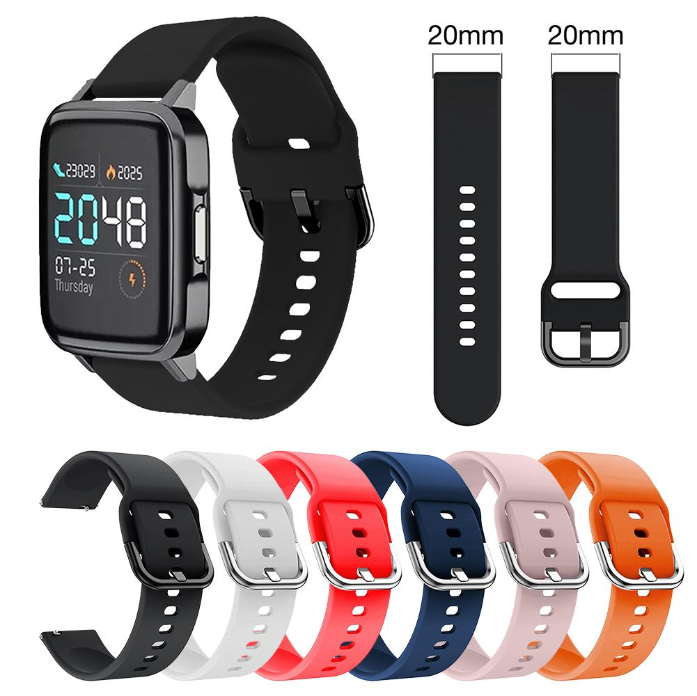Soft Silicone Watch Band Wrist Strap Soft Breathable Wristband Replacement Band For Xiaomi Haylou LS01 Smartwatch haylou ls01 smart watch global version fashion comfortable women men sleep management smartwatch