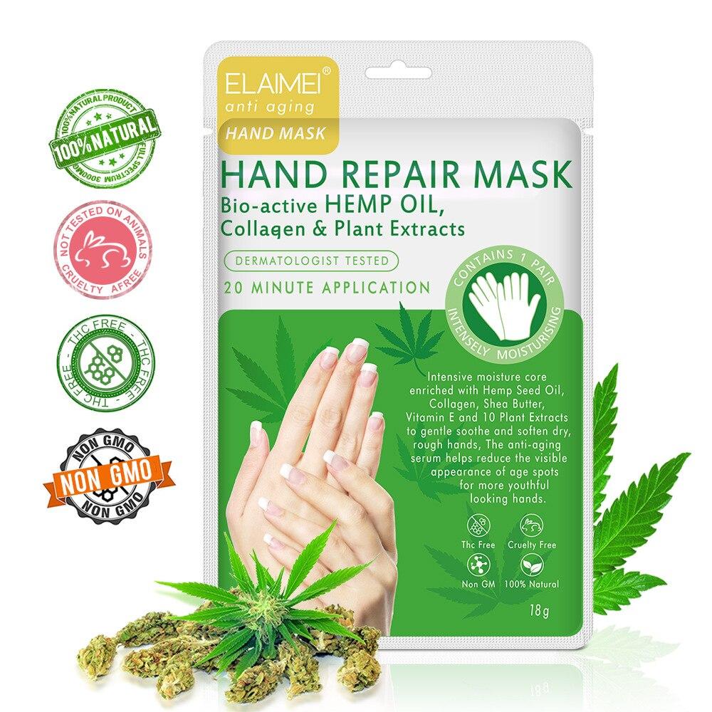 Cross border new elaimei hemp oil hand mask