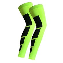 1 Uds., antideslizante de nailon para deportes, calentadores de rodilla largos, soporte de compresión, Protector de almohadilla, Protector de almohadilla para baloncesto, fútbol, manga de pierna