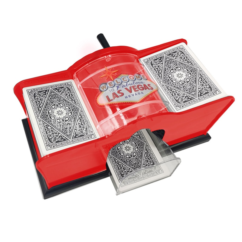 Hand Crank Shuffle Machine Board Game Poker Playing Cards Manual Card-shuffling Tool for Blackjack Card Game Home Party