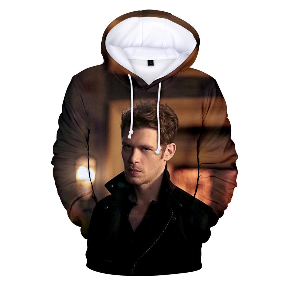 Hip hop marca nikklaus mikaelson 3d hoodies moletom com capuz de manga longa dos homens/mulheres moda pulôver