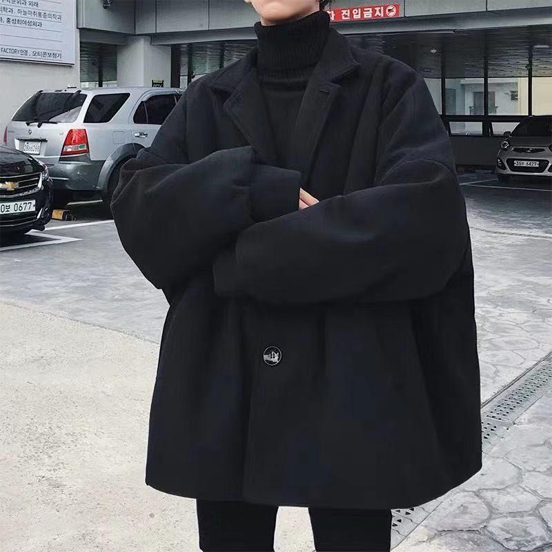 Зимняя куртка мужская ветровка осень и зима теплое пальто повседневная куртка Мужское пальто Полушерстяное пальто S-3XL