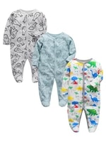 baby one piece pajamas newborn girls boys clothes infant sleeper 3 6 9 12 months cotton sleepwear