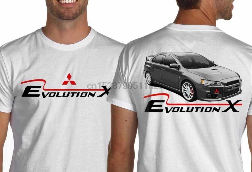 2019 Newest Men Funny T shirt Men Clothing Lancer Ralliart Evolution X White Or Gray Jdm T-Shirt Evo 10 Rally cool Tee Shirts