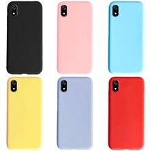 Custodia per telefono per Xiaomi Redmi 7 7A Cover nera opaca custodia morbida in silicone TPU Cover posteriore per Xiaomi Xiaomi Redmi 7 7A custodia