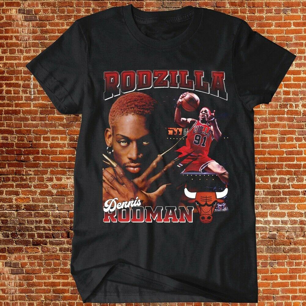 Ostatni taniec Dennis Rodman T-Shirt Rodzilla Chicago koszykówka Sport Tee