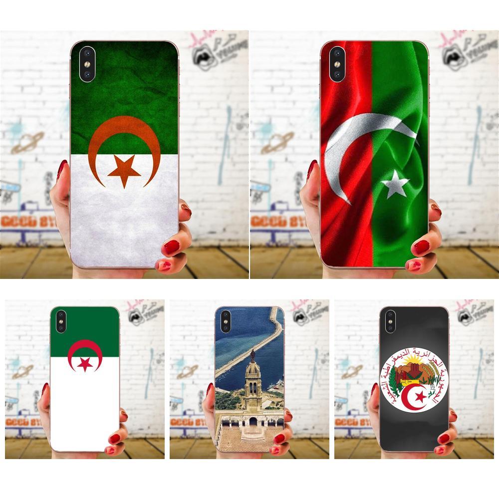 Dibujos y TPU suave del teléfono para Huawei Honor 4C 5A 5C 5X 6 6A 6X 7 7A 7C 7X 8 8C 8 9 10 10i 20 20i Lite Pro de Argelia bandera