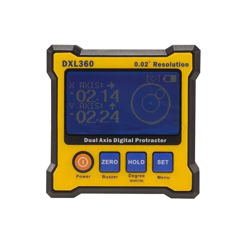 5 الجانب المغناطيسي BaseHigh الدقة المزدوج محور زاوية الرقمية المنقلة مستوى قياس مستويات حاكم DXL-360 DXL-360S