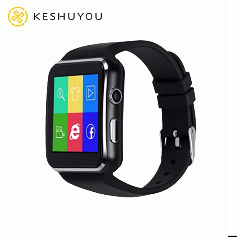 X6 منحني شاشة ساعة ذكية مع كاميرا بلوتوث الفيسبوك WhatsApp دعم سيم TF بطاقة دعوة Smartwatch للهاتف أندرويد DZ09