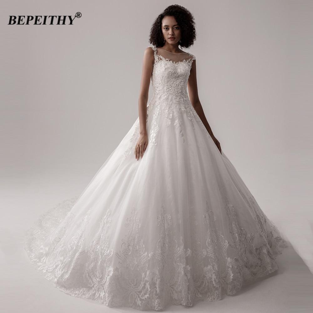 BEPEITHY-vestido De Novia De encaje sin mangas para mujer, traje De Novia...