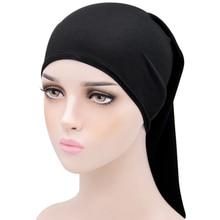 12 Colors Women Adjustable Muslim Turban Milk Head Scarf Islamic Hijab Hat Hair Care Cap Bandana Hea