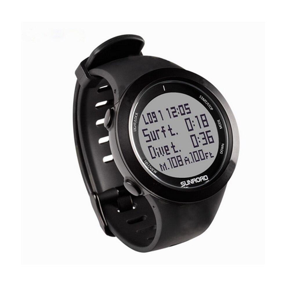 SUNROAD Diving Digital Men's Watches Computer Safety Depth 10ATM Waterproof reloj hombre Compass Pedometer Men Wristwatch enlarge