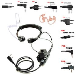 Walkie Talkie Mikrofon Heavy Duty U94 PTT Hals Throat Mic Hörer Radio Tactical Headset für Baofeng Kenwood MIDLAND motorola