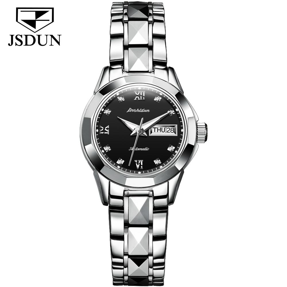 SHOWTIME women watches rose gold Silver ladies clock brand luxury fashion 2021 Mechanical watches diamond calendar Luminous gift enlarge