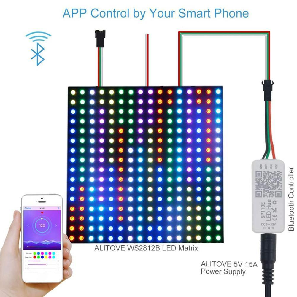 LED Smart Controller Bluetooth WS2811 WS2812B Pixels For IOS WS2801 Android RGBW RGB SK6812 dimmer Light APA102 Strip L0C8