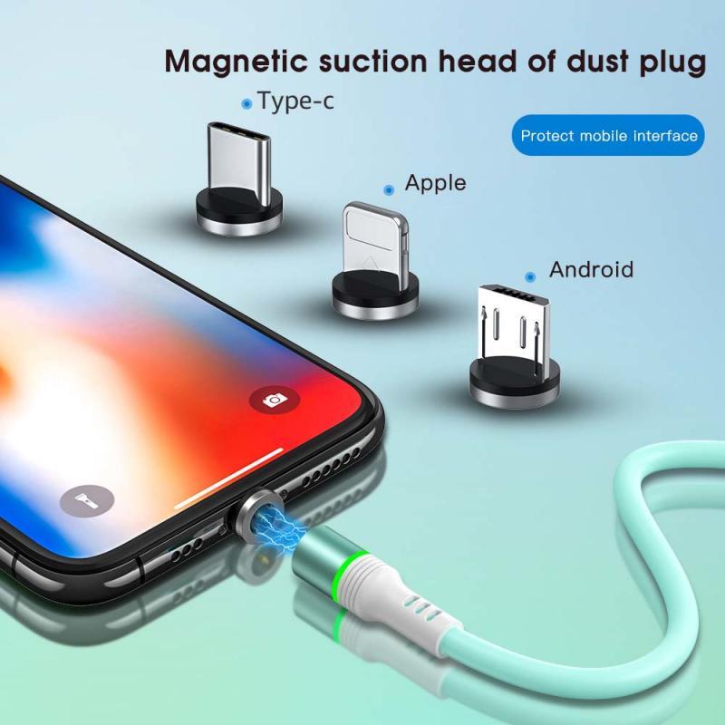 ARGO líquido de silicona magnético rápido Cable de datos del cargador para...