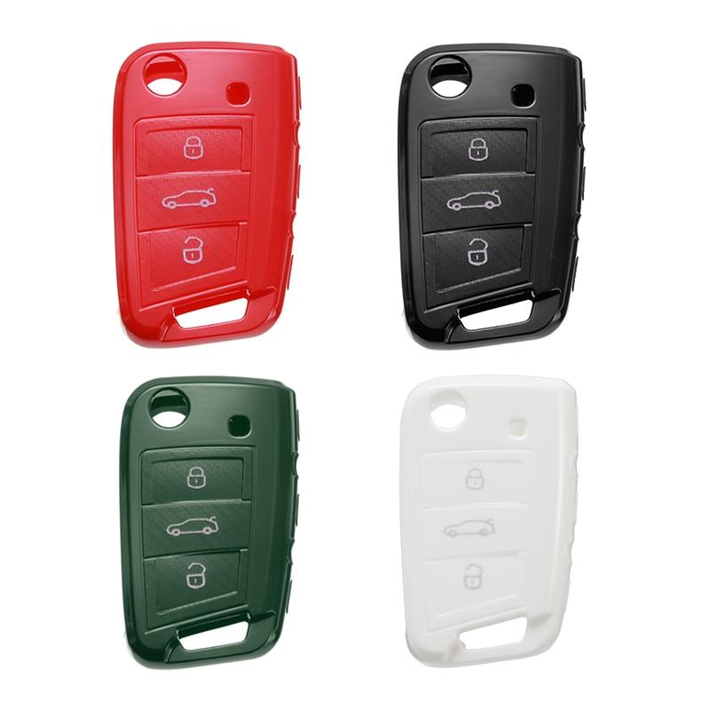 1 Uds funda negra para llave de coche para Skoda Octavia Kodiaq Karoq para Seat Ateca Leon