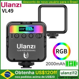Ulanzi VL49 мини RGB видео светильник ing для фотографии 2000 мА/ч, RGB светодиодный видео Камера светильник Vlog заполнить светильник в прямом эфире Tiktok