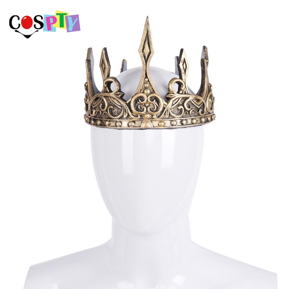 Tocado antiguo Cospty, Corona vikinga de Larp para Hombre, rey Medieval, Tiaras reales, accesorios para el cabello de Corona